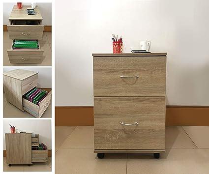 Mueble cajonera para oficina o casa de madera de roble ...