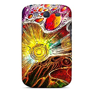 Galaxy High Quality Tpu Case/ Abstract Sun AfE3478vFeH Case Cover For Galaxy S3