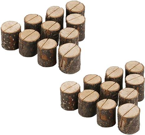 Amosfun - Tarjetero de madera para tarjetas de boda, números de ...