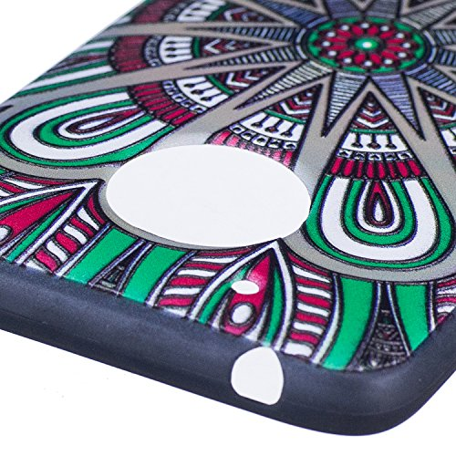Funda Moto G5, CaseLover Negro Suave Silicona TPU Carcasa para Lenovo Motorola Moto G5 Ultra Delgado Flexible Gel Protectora Tapa Anti-Arañazos Movil Celular Cubierta Ligero Caja Anti-Rasguños Espalda Mandala