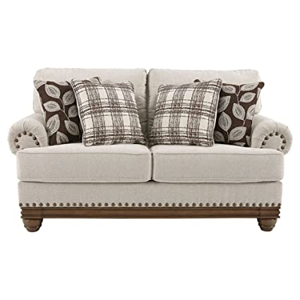 Groovy Ashley Furniture Signature Design Harleson Traditional Upholstered Loveseat Wheat Home Interior And Landscaping Eliaenasavecom