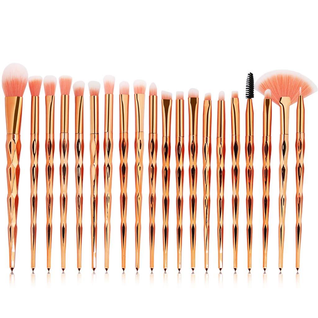 Eye Brush Set, 20 pcs Unicorn Eyeshadow Eyeliner Blending Crease Kit Makeup Brushes Make Up Foundation Eyebrow Eyeliner Blush Cosmetic Concealer Brushes (Rose Gold)