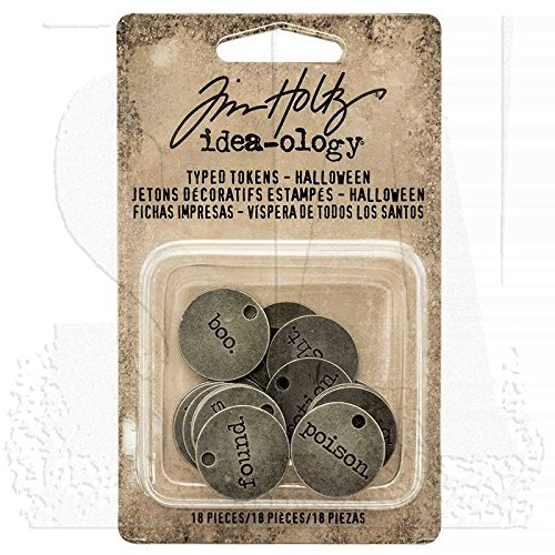 Tim Holtz Idea-ology ~ Typed Tokens Halloween (Halloween Ideas)