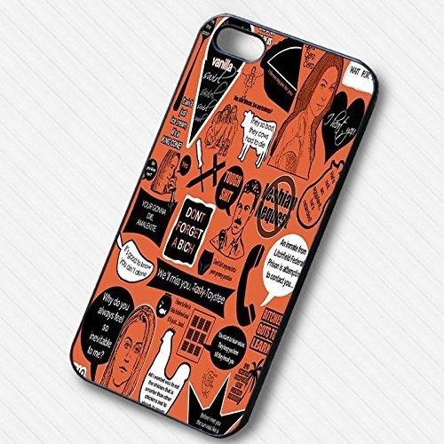 Orange Is The New Noir Art pour Coque Iphone 6 or 6s Case F5F4KQ