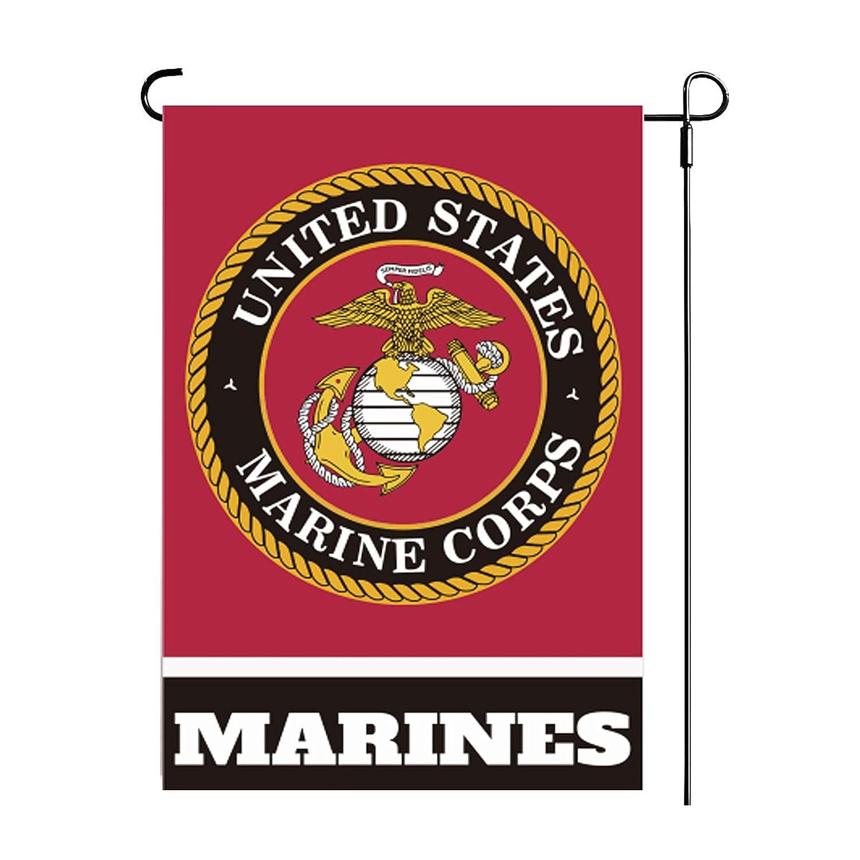 Marine Corps USMC Garden Flag- US Small Marine Yard Flags Double Sided for Yard House Garden 12.5 x 18 Inch