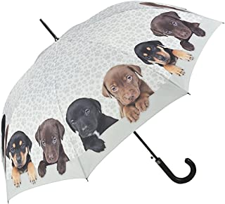 VON LILIENFELD® Ombrello Motiv Automatico Donna Arte Cane Quartetto di cuccioli 5796A