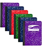 Mead Composition Book Wide Ruled, 100 sheets, 6 Piece