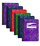 Mead Composition Book Wide Ruled, 100 sheets, COLOR MAY VARY, 6 Pack