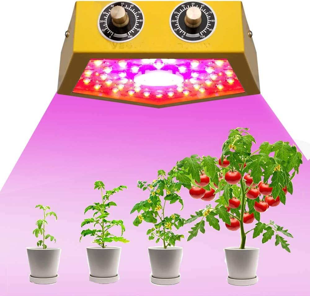 1000W LED Grow Light for Indoor Plant, Adjustable Full Spectrum Plant Light Growing Lamps with Veg and Bloom for Basement Planting Yellow