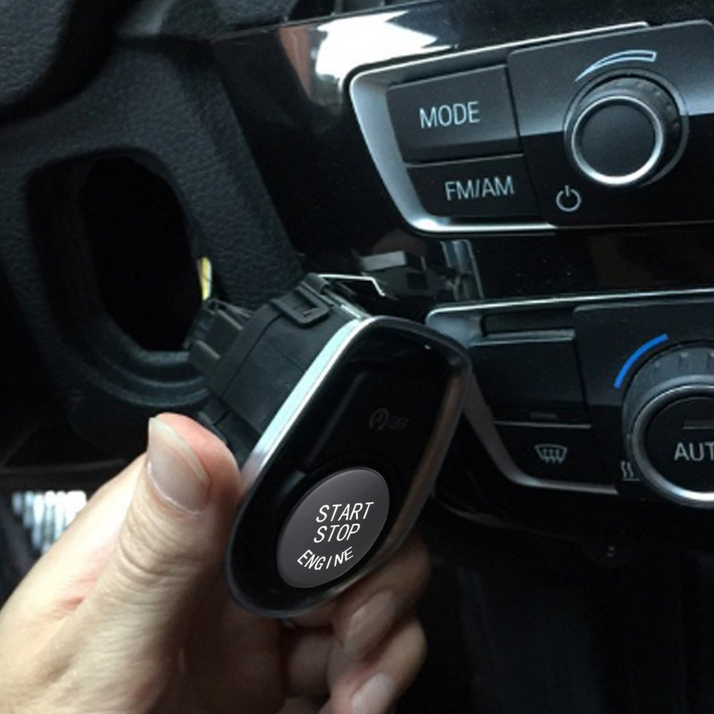 Rot Qiilu Auto Motorstartknopf Motor Start Stop Knopf