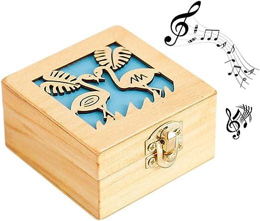 KOBWA Caja de Música de Madera Vintage Mano Caja de Música Manualidades para Niñas Niños, Mejor Regalo para Navidad, Halloween, Cumpleaños, Día de San Valentín: Amazon.es: Hogar