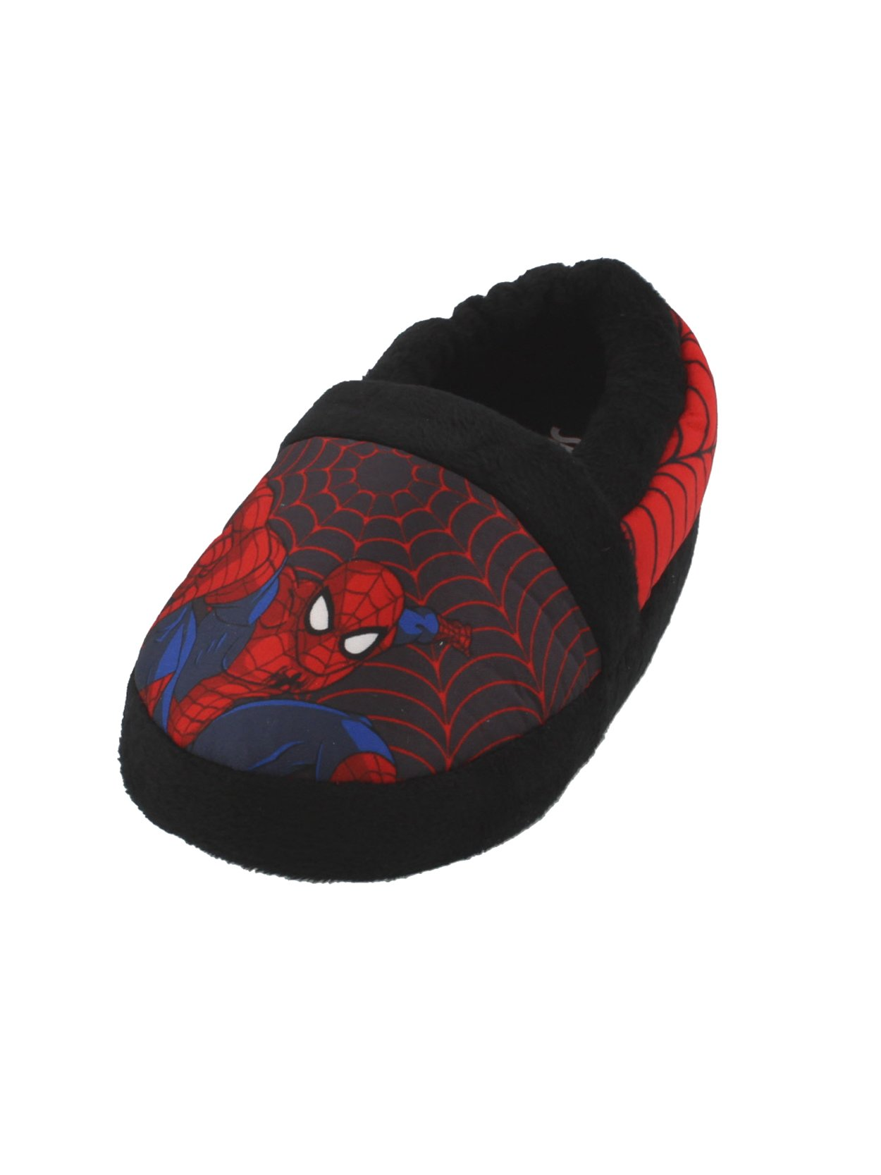 Spider-Man Boys Aline Slippers (11-12 M US Little Kid, Black/Red)