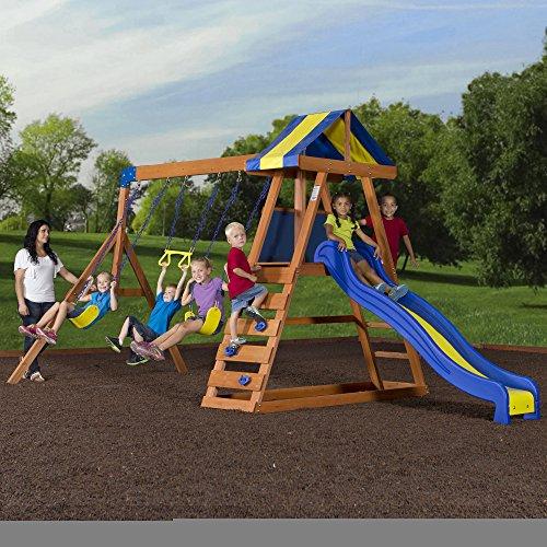 Backyard Discovery Dayton All Cedar Wood Playset Swing Set ...