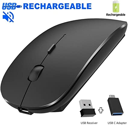 New Slim Wireless Optical Mouse 2.4GHz USB 1.1//2.0 For Tablets Laptop PC Android