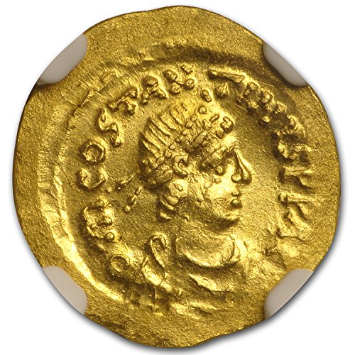 578 IT Byzantine Gold Tremissis Tiberius II Constantine(578-582AD) MS NGC Gold Uncirculated NGC