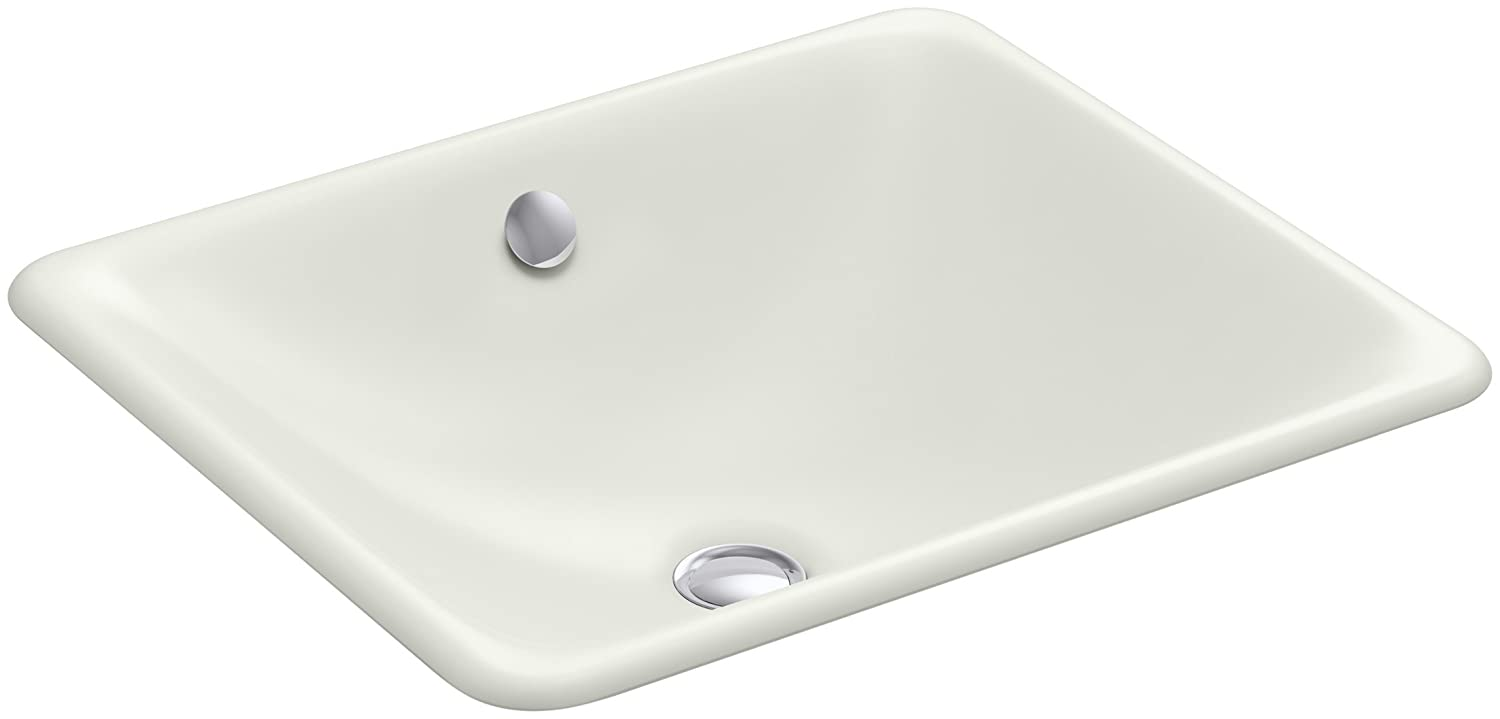 KOHLER K-5400-NY Iron Plains Dual-Mount Bathroom Sink, Dune