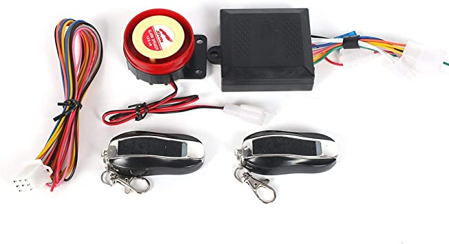 Universal Fit Motorcycle Anti-theft Alarm Security System Remote Control Engine Start Kit AUTOMIO