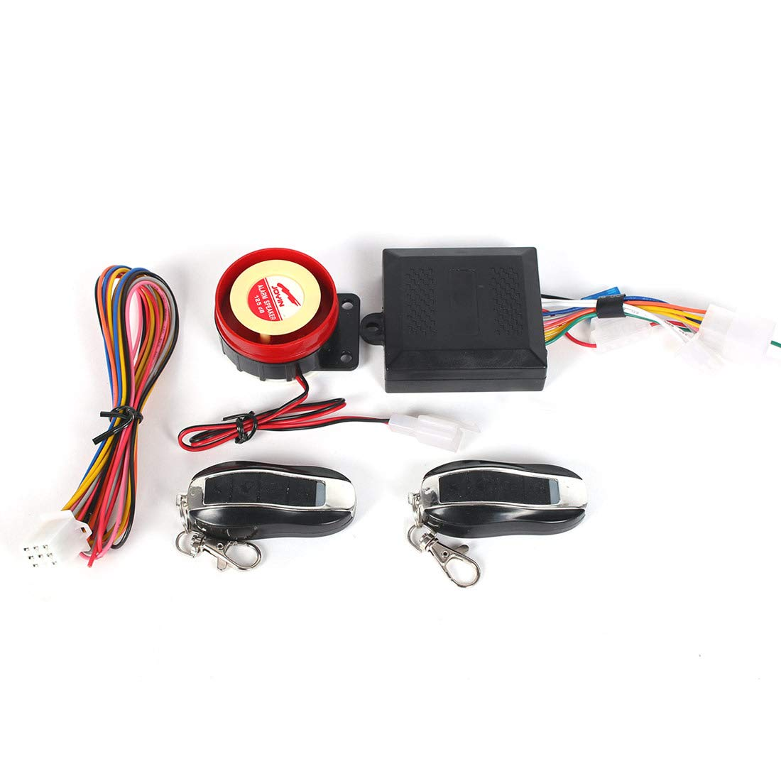 Bompa Universal Fit Motorcycle Anti-Theft Alarm Security System Remote Control Engine Start Kit by Bompa