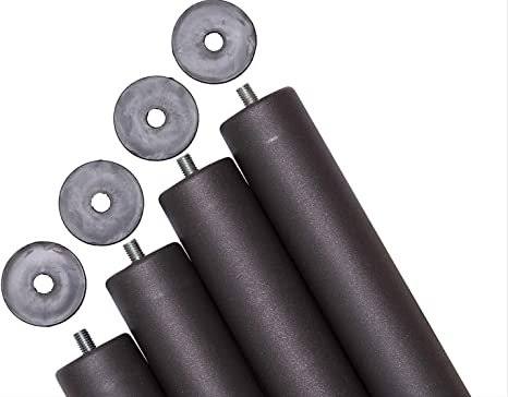 Pack 4 patas para somier o base tapizada cilÃndricas, con rosca 10 mm
