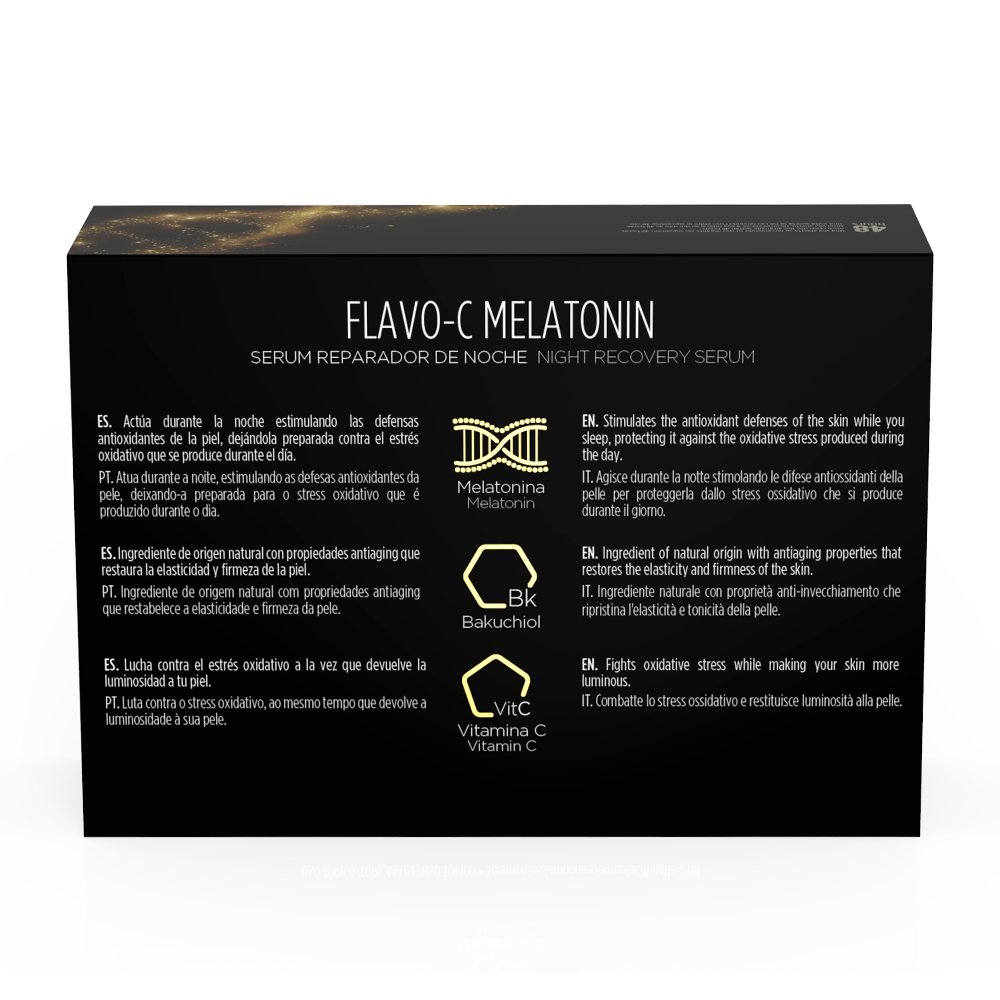 Amazon.com: Isdin Isdinceutics Flavo-C Melatonin Night Recovery Serúm, 10 ampollas x 2ml: Beauty
