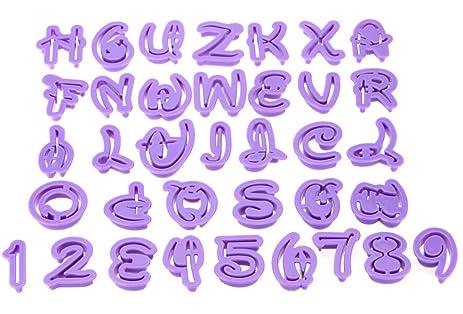 Amazon 36pcs Fondant Cake Decoration Tools Disney Font