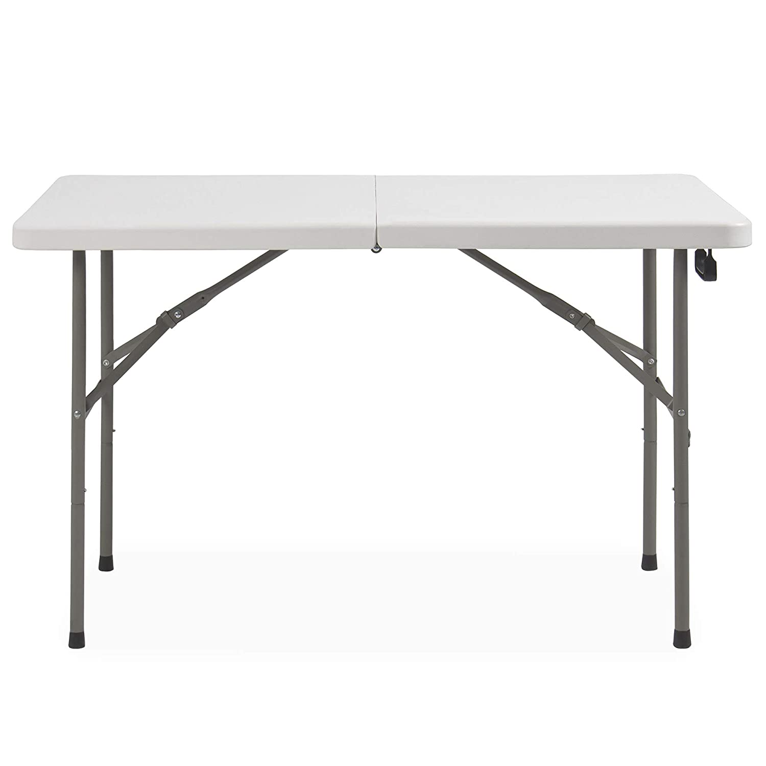 Best Choice Products Portable 4 Foot Folding Utility Table – White