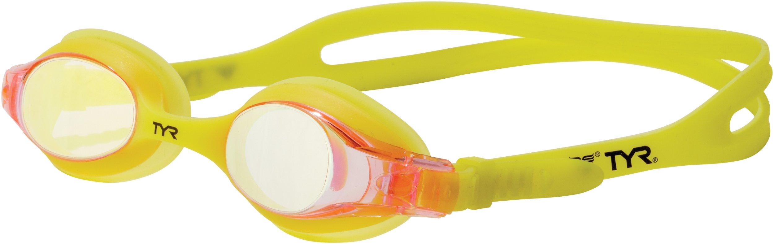 TYR Swimple Youth Metallized Goggle (Pink Lemonade)