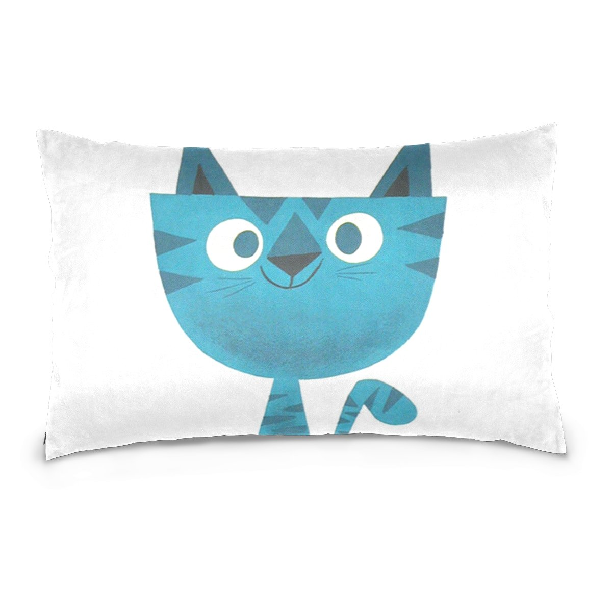 THENAHOME Pillow Covers Pillow Protectors Bed Bug Dust Mite Resistant Standard Pillow Cases Cotton Sateen Allergy Proof Soft Quality Covers with Animal Blue Cat for Bedding