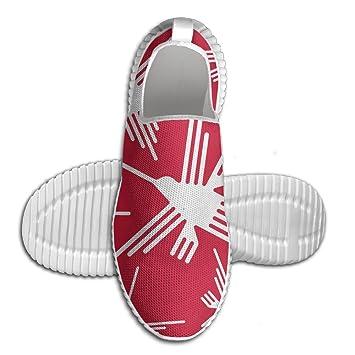 Nazca Lines Hummingbird Men Slip-On Loafers Fashion Lightweight Running Shoes
