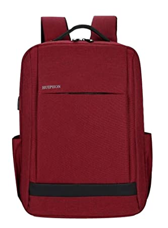 Rojo Mochila Ordenador Portatil 15.6 Pulgadas Business Mochilas Para Universitarios Hombre Mujer Trabajo Viaje Escolares 13 14 15 Pulgadas Casual Laptop Pc ...