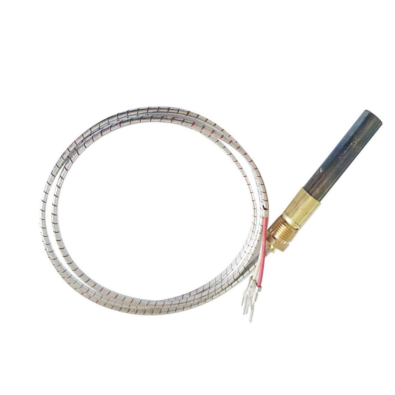 "MENSI Propane Gas Fireplace 750 Millivolt Replacement Thermopile Generators (36"" Aluminium Glass Fiber Wire)"