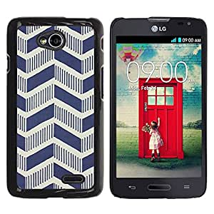 Paccase / SLIM PC / Aliminium Casa Carcasa Funda Case Cover para - Chevron Vintage Art Deco Wallpaper Pattern - LG Optimus L70 / LS620 / D325 / MS323