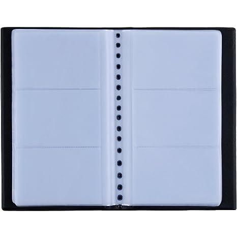 Zacro 150 Porte Cartes De Visite Carte Livre PVC Pour Ranger