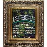 overstockArt The Japanese Bridge Hand Painted Oil Canvas Art by Monet