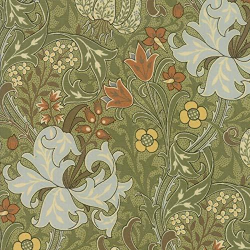Moda Fabrics V and A Morris Garden Sage Golden Lily 1897 ()