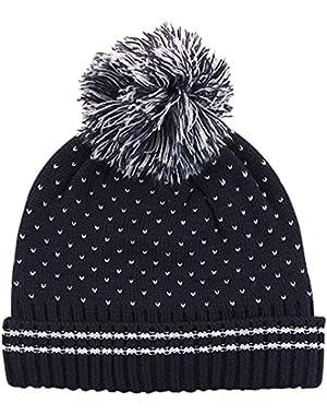 Baby Newborn Kids' Knitted Beanie Winter Warm Hat Boy Sesame Black