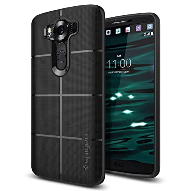 official photos ab342 051e2 LG V10 Case, Spigen [Rugged Armor] Resilient [Black] Ultimate protection  and rugged design with matte finish for LG V10 (2015) - Black (SGP11813)