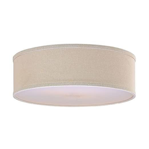 Amazon.com: Lino de color crema lámpara de carga: Home ...