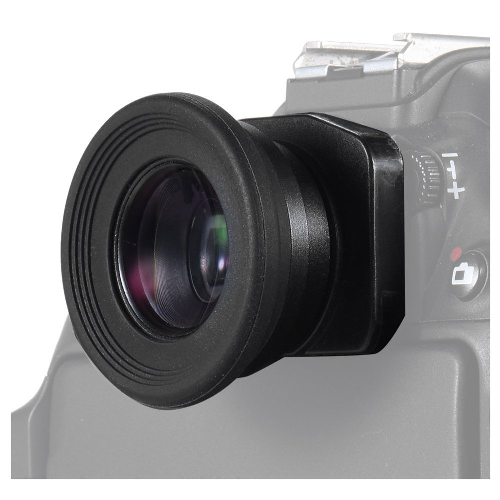 SODIAL 1.51X Fixed Focus Viewfinder Eyepiece Eyecup Magnifier for Canon Nikon Sony Pentax Olympus Fujifilm Samsung Sigma Minoltaz DSLR Camera with 2 Eyepatch 131687