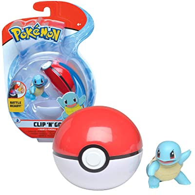 BANDAI- Pokemon-Poké Ball & His Figurine 5cm Carapuce, WT97642: Toys & Games