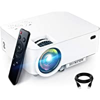 Hompow T20 Full HD 1080p 3600-Lux Portable Mini Projector