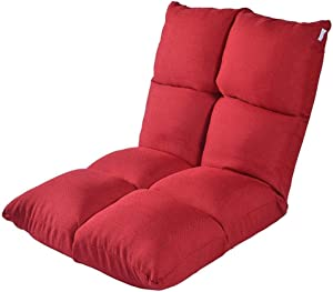 Xiao Tian Portable Multi-Purpose Lazy Single Sofa,Living Room Furniture Recliner (Color : Big red)