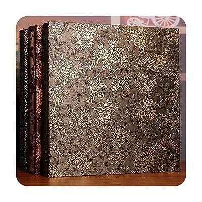 foosheeonzi 600 Pockets 6 Inch Interleaf Type Big High Capacity Photo Album PU Leather Photo Albums Handmade DIY Commemorative Family Flower