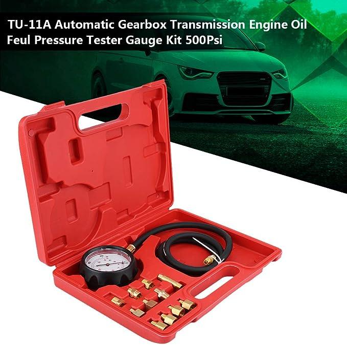 Bllboo Öldruckprüfer Tu 11a Automatikgetriebe Getriebe Motoröl Feul Druckprüfgerät Manometer Kit 500psi Auto