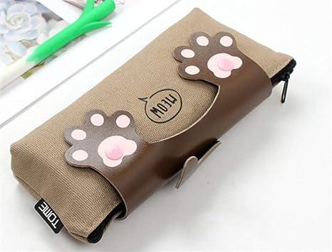 Mon5f Stationery Artículos de papelería Estuches para lápices Estilos de Gatos de Estilo Lindo Estuche para