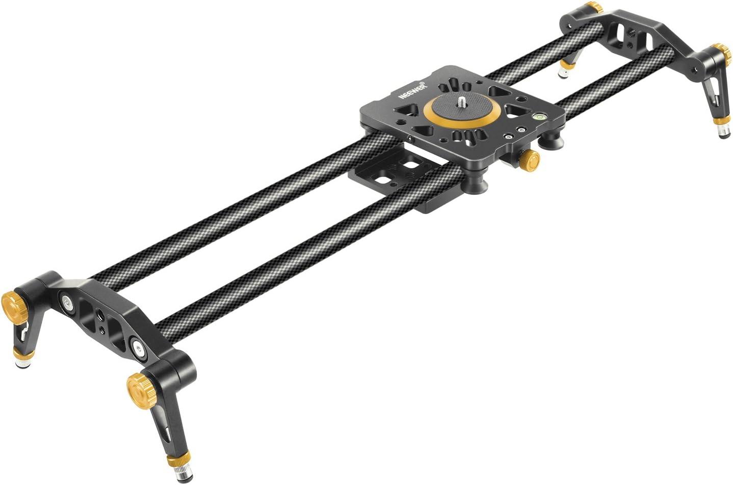 Neewer 60cm Kohlefaser Kamera Streckenschieber Video Kamera