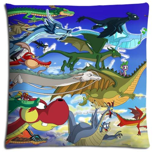 18x18 inch 45x45 cm cushion pillow protector case Polyester + Cotton HIGH QUALITY Lowest Price American Dragon Jake Long