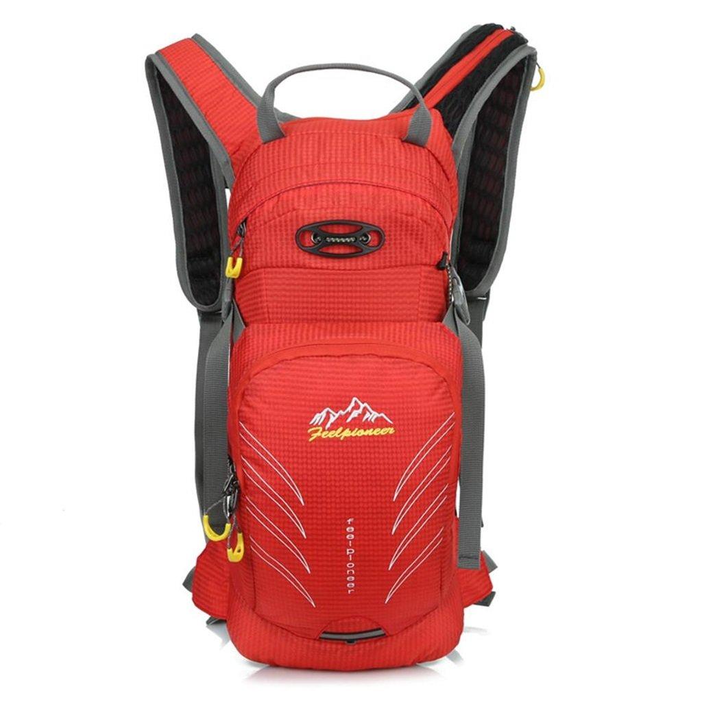 Color : Red YONGMEI Outdoor Backpack Multi-Purpose Bike Travel Bag Riding Bag Men and Women Outdoor Backpack Waterproof Climbing Bag Backpack