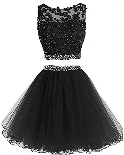 4ee7518a59d1 Dydsz Women s Prom Dress Short Homecoming Party Dresses 2 Piece ...