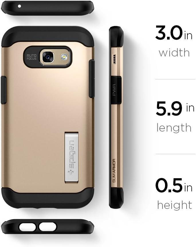 Spigen Coque Slim Armor compatible avec Samsung Galaxy A5 (2017) – Champagne doré